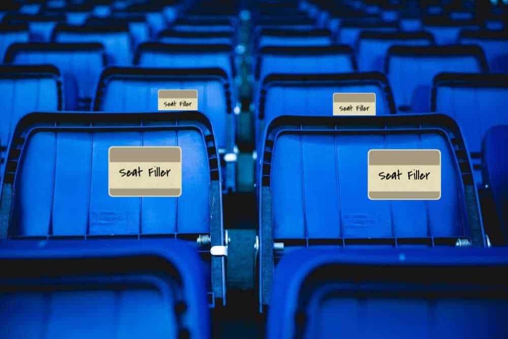 fill seats, filling seats, otl seat fillers, fill seats at shows, fill seats at events