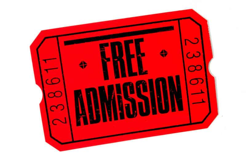 free tickets, free admission, free seat filler tickets