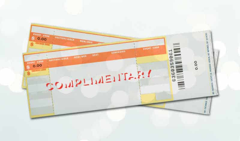 free seat filler tickets, free tickets, comp tickets