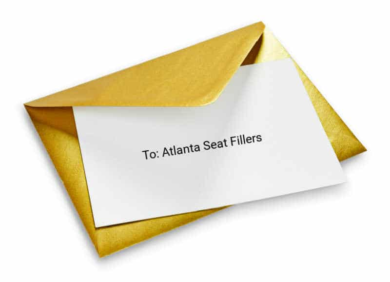 invite seat fillers, Atlanta seat fillers invite