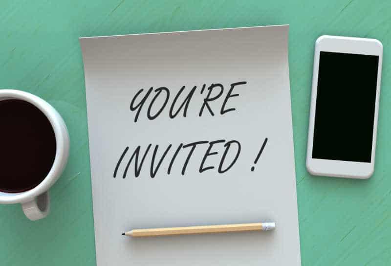 invite seat fillers, invitation for seat filling