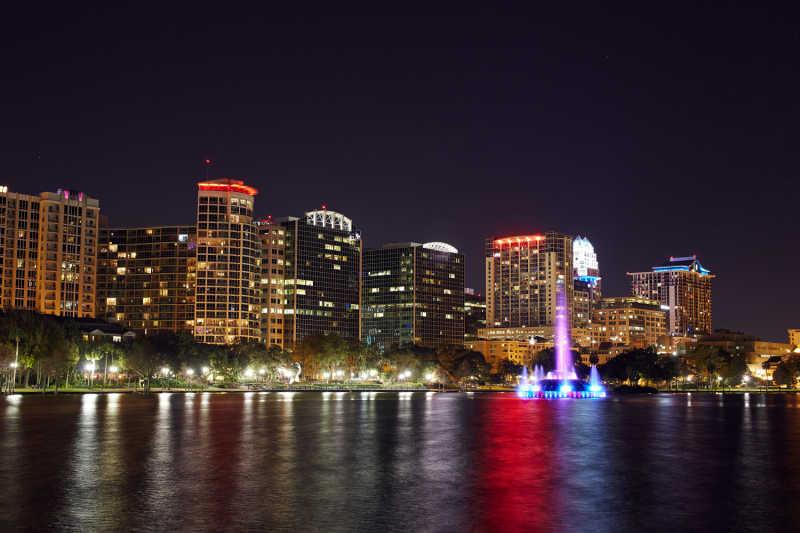 Orlando at night, Orlando, Orlando Florida