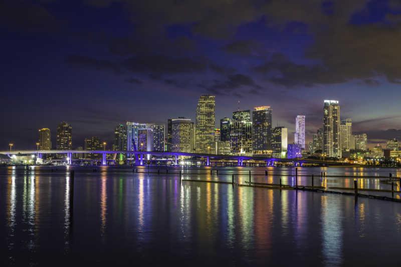 South Florida at night, Miami at night